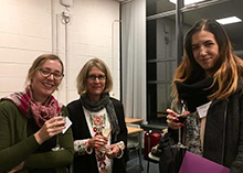 Kaylee McNeil (right) with Drs. Clara Fischer (left, University College Dublin) and Dianna Taylor (middle, John Carroll University) at the Society of Women in Philosophy Ireland conference in Galway.