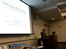 Dr. Perry Zurn presenting the Sophia Lecture